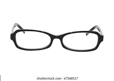 Closeup image of glasses, isolated on white background