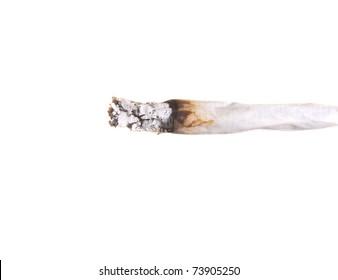 Close-up Image of a isolated marijuana joint