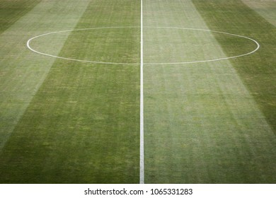Closeup image of natural green grass soccer field, football field, team sport texture, top view
