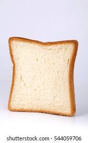 Close-up image of one slice of white bread