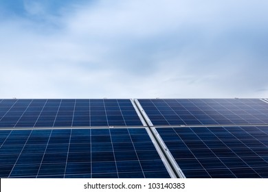 Close-up image of photovoltaics with copy space