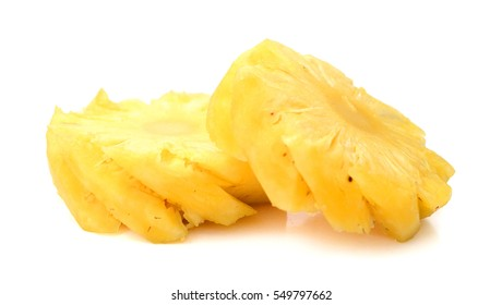Close-up image of pineapple studio isolated on white background