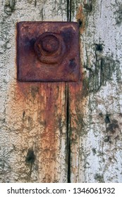 Closeup image of rusty bolt