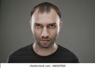 Closeup image of a serious man