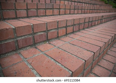 Close-Up Isolated View of  Brick Steps