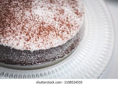 Close-up of Italian Chocolate Cake - Caprese