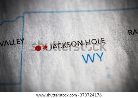 Closeup Jackson Hole Wyoming On Map Stock Photo (Edit Now) 373724176 ...