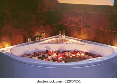 closeup of a jacuzzi in luxury health spa.