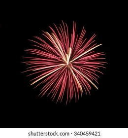 Close-up of Japanese Fireworks in Summer Festival