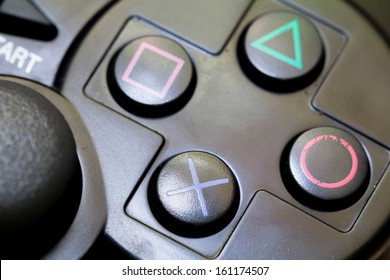close-up joy sticks controller are usually used as computer game accesories