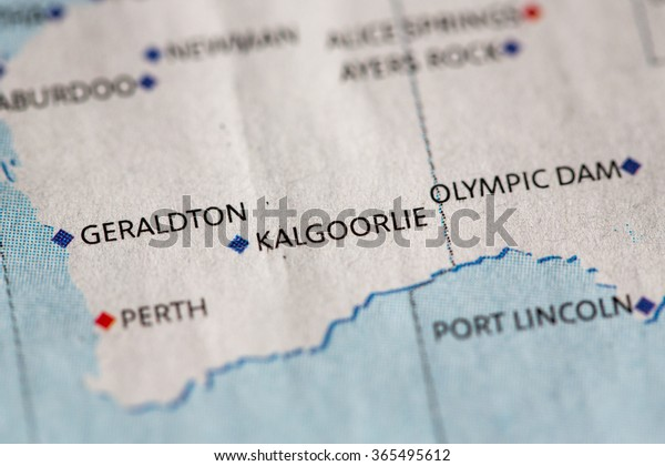 Australia Map Kalgoorlie.Closeup Kalgoorlie On Political Map Australia Stock Photo Edit Now