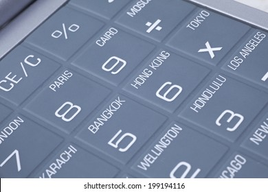 Close-Up Of The Keyboard Of Calculator