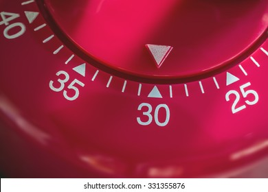 Closeup Of A Kitchen Egg Timer - 30 Minutes