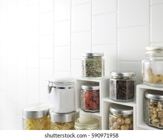 closeup of kitchen wall