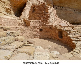Close-up of a kiva in one of the cliff dwellings in Mesa Verde National Park, Colorado, USA.