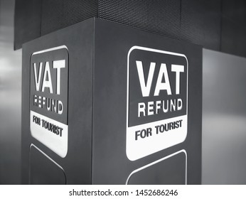 Close-up Label of VAT Refund for Tourist