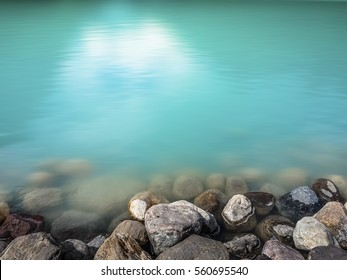 Closeup of Lake Louise in Banff National Park, Canada as Background