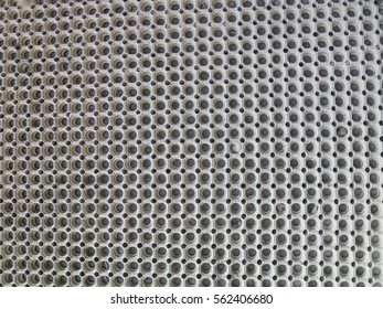 Closeup of large clean rubber door mat