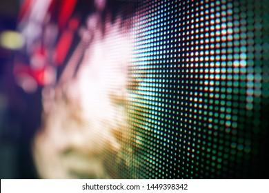 Closeup LED wall at stage