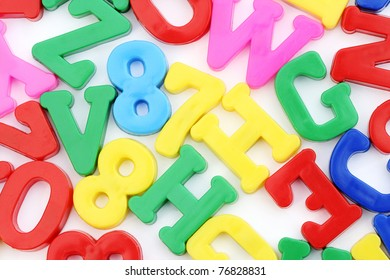 Close-up of letters and numbers