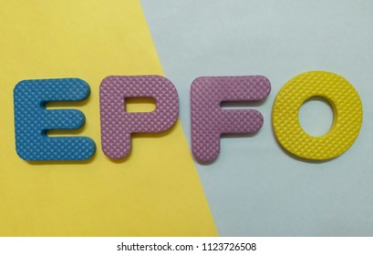 closeup of letters showing epfo employees provident fund organisation