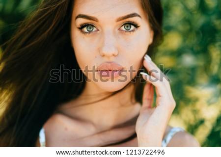 Sexy blue eyed babe