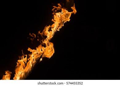 closeup line of fire