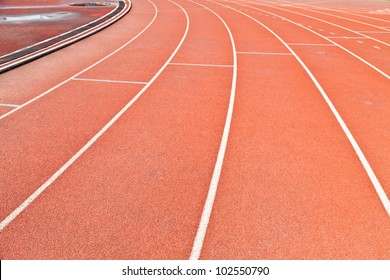 Close-up line on race track