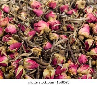 Close-up of loose tea.