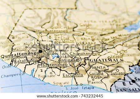 Closeup macro map guatemala focus on stock photo edit now close up macro of map of guatemala with focus on guatemala city gumiabroncs
