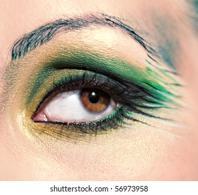 Close-up make-up eye