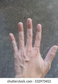 Closeup of male hand