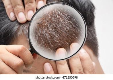 closeup Man Grey Hair