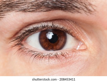Closeup of man's eye
