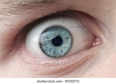 Closeup of a man's eye