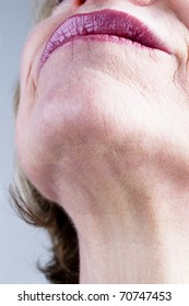 Close-up of mature woman neck