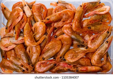 close-up meal boiled shrimp. seafood healthy dietary food