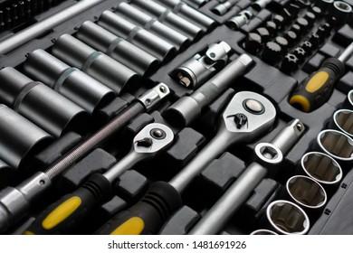 Close-up of Mechanics Tool Kit