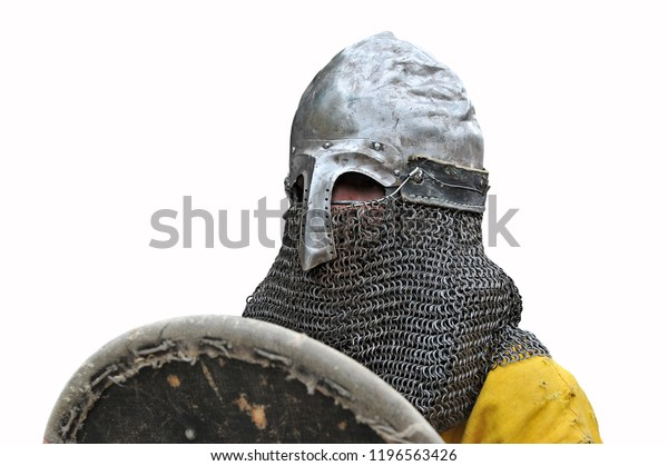 Closeup Medieval Knights Suit Armor Helmet Stock Photo (Edit