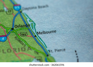 Melbourne Florida Map.City Of Melbourne Florida Stock Photos Images Photography