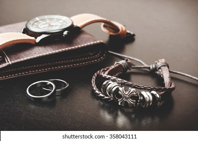 closeup men's bracelet, men's accessories