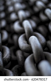 Close-up of metal chains