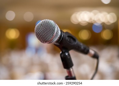 Close-Up of a Microphone in the room