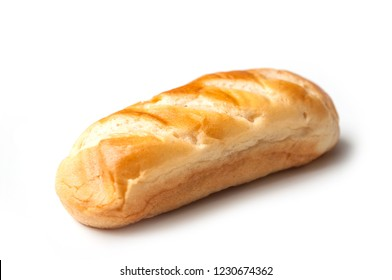closeup of milk bread on white background