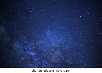 Close-up of Milky way galaxy with stars and space dust in the universe, Long exposure photograph.