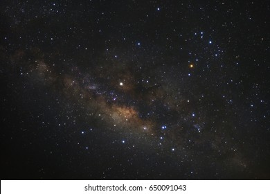 Close-up of Milky way galaxy with stars and space dust in the universe,High Resolution