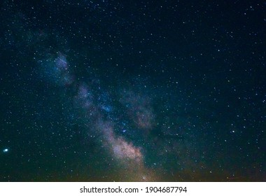 Close-up Milkyway at Walchensee in Germany