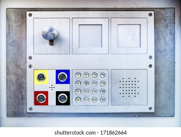closeup of a modern keypad