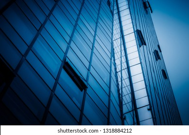 Close-Up of Modern Office Buildings in city of China