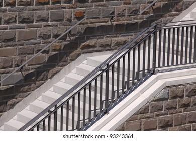 closeup of modern stairs
